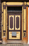 Old doors of a medieval building in Hameln, Germany. Royalty Free Stock Photo