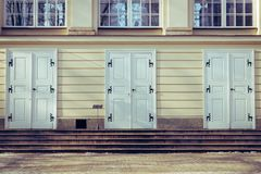 Old Doors Of Palace in Warsaw stock photography