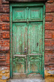 Old doors of Rostov-on-Don stock photo
