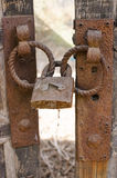 Old doors, rusty lock Royalty Free Stock Photos