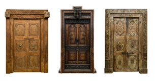 Old doors set 8 Royalty Free Stock Image
