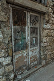 Old doors (street in city Pag, Croatia) Stock Image