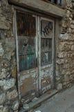 Old doors (street in city Pag, Croatia) Stock Image