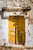 Old doors of teh ancient building Stock Photos