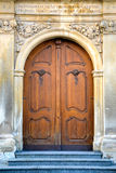 Old doors to cathedral Royalty Free Stock Images