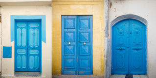 Old doors in Tunisia Royalty Free Stock Images