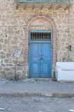Old doorway in abandoned egyptian house Stock Images