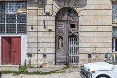 Old doorway and facade, Havana, Cuba Royalty Free Stock Photo