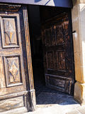 Old doorway in Krakow in Poland in Krakow Poland Stock Photo