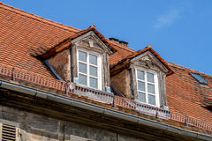 Old dormer. On an old historical building Stock Images