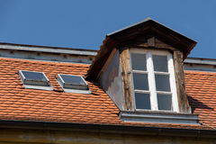 Old dormer. On an old historical building Royalty Free Stock Images