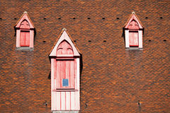 Old dormers on an old roof Royalty Free Stock Photography