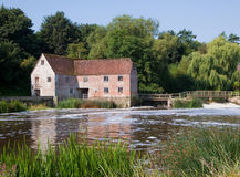 Old Dorset Mill. An old water mill on the river stour in Dorset, UK Royalty Free Stock Photos