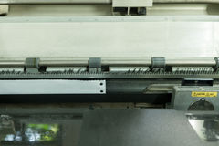 Old dot matrix printer, close up Stock Images