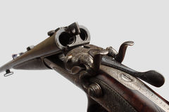 Old double-barrelled gun Royalty Free Stock Photos