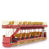 Old double-decker tram 3D figure Royalty Free Stock Photos