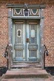 Old Double Door. Closeup of an old double door stock photography