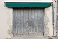 Old double garage door Royalty Free Stock Images