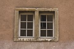 Old double window Stock Photos
