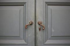 Old double wood door Royalty Free Stock Image