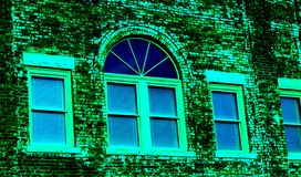 Old downtown building in abstract colors Stock Image