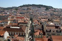 Old downtown of Lisbon, Portugal Royalty Free Stock Photography