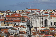 Old downtown of Lisbon, Portugal Stock Photography
