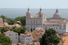 Old downtown of Lisbon, Portugal Stock Photos