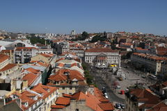 Old downtown of Lisbon, Portugal Royalty Free Stock Images