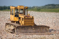 Old Dozer. At a construction site stock images