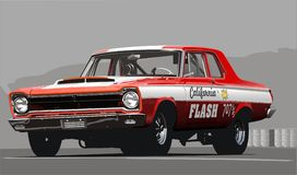 Old drag car Royalty Free Stock Photography