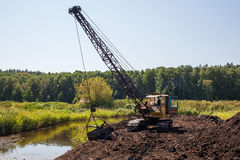 Old dragline Royalty Free Stock Photo