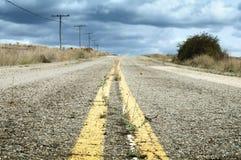 Old dramatic asphalt road Stock Photos