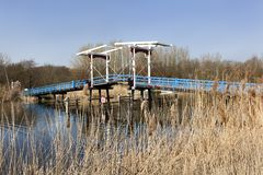 Old drawbridge over river Rotte Royalty Free Stock Photo