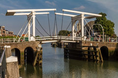 Old drawbridgge. Old drawbridge at the harbor of Zierikzee, south holland Stock Photography