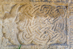 Old drawing on an ancient stone (perhaps cement) Royalty Free Stock Photo