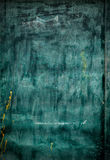 Old Drawing Green Board, grunge. Background Stock Image