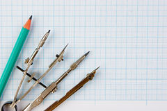 Old drawing tools Stock Photography