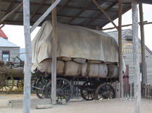 Old drawn wooden cart Royalty Free Stock Images