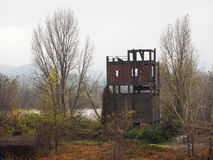 Old dredge ruin in Settimo Torinese Royalty Free Stock Photos