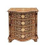 Old dresser. Antique Arabic style dresser isolated with clipping path included Royalty Free Stock Photo