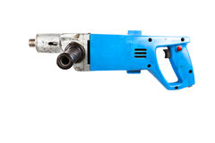 Old drill isolated on white background Royalty Free Stock Image