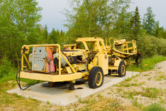 An old drill rig in the northwest territories Royalty Free Stock Photos