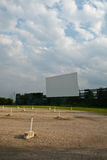 Old Drive-In. A side view of an old drive-in movie theater in Fairborn, Ohio on a cloudy evening Stock Images