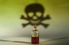 Old drug in a bottle Stock Image