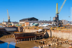 Old dry dock. Suomenlinna island, Finland Royalty Free Stock Photography
