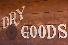 Old Dry Goods Sign Royalty Free Stock Photography