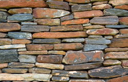 Old dry stone wall Royalty Free Stock Photos