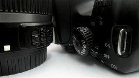 Old DSLR camera and lens Royalty Free Stock Photography