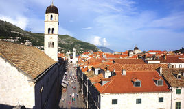 Old Dubrovnik From Above Stock Photography